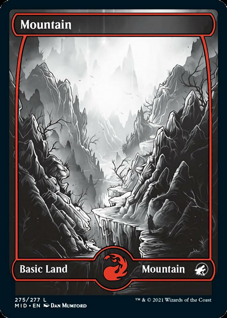 Mountain (275) card from Innistrad: Midnight Hunt