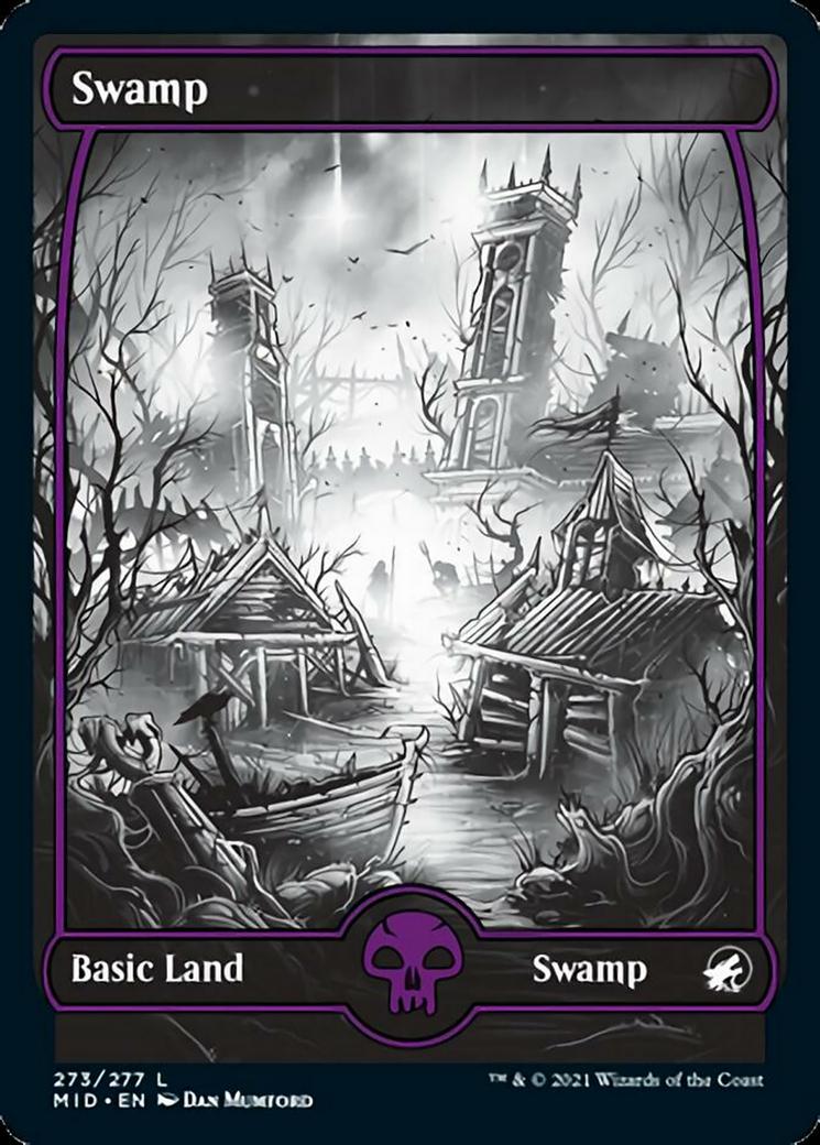 Swamp (273) card from Innistrad: Midnight Hunt