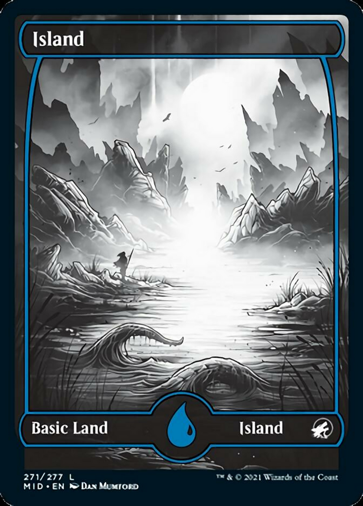 Island (271) card from Innistrad: Midnight Hunt
