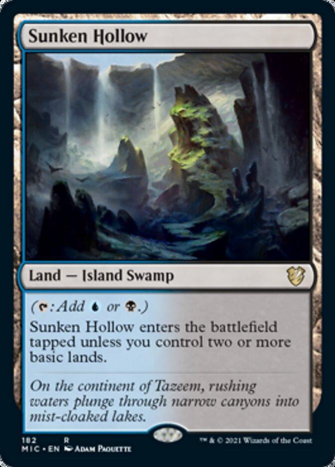 Sunken Hollow card from Commander: Innistrad: Midnight Hunt
