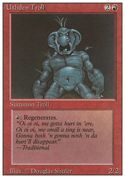 Uthden Troll card from Revised Edition