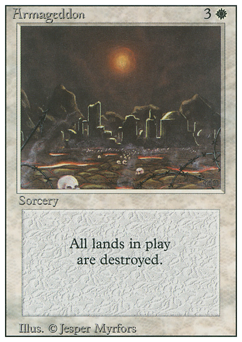 Armageddon card from Revised Edition