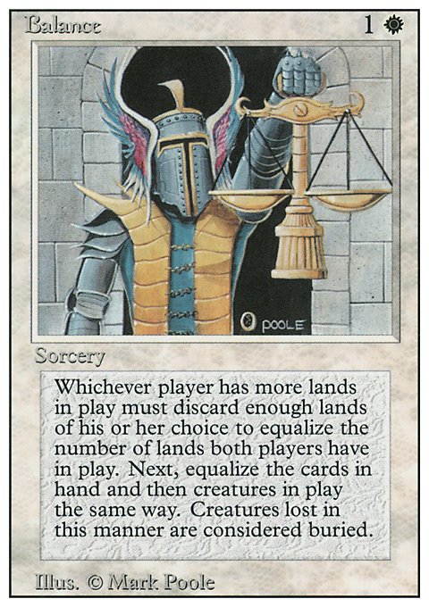 Balance card from Revised Edition