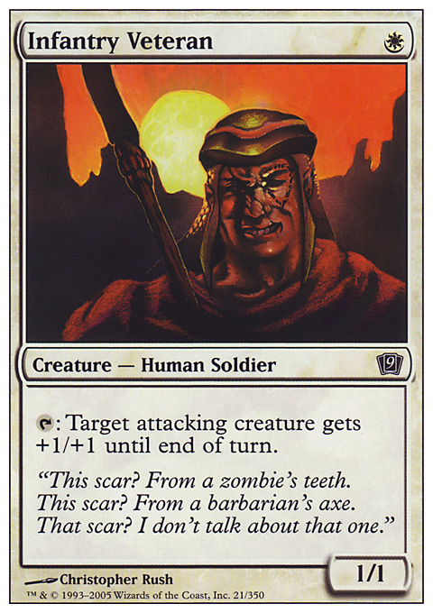Infantry Veteran card from Ninth Edition