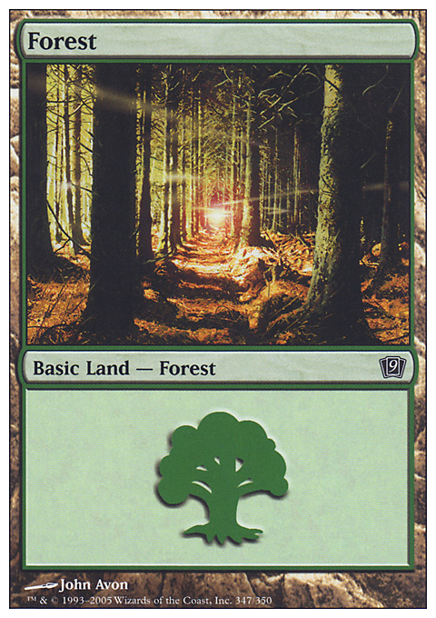 Forest (347) card from Ninth Edition