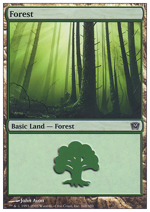 Forest (348) card from Ninth Edition