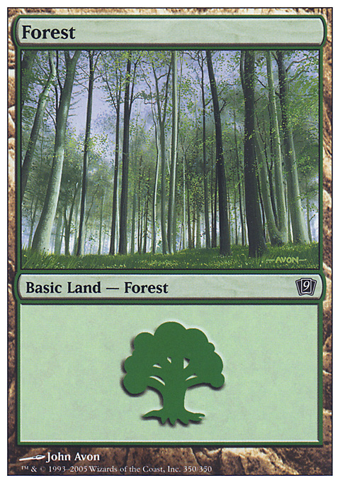 Forest (350) card from Ninth Edition