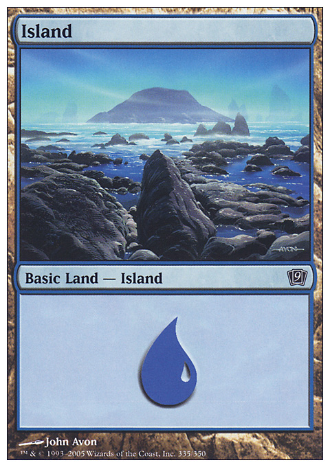 Island (335)  card from Ninth Edition