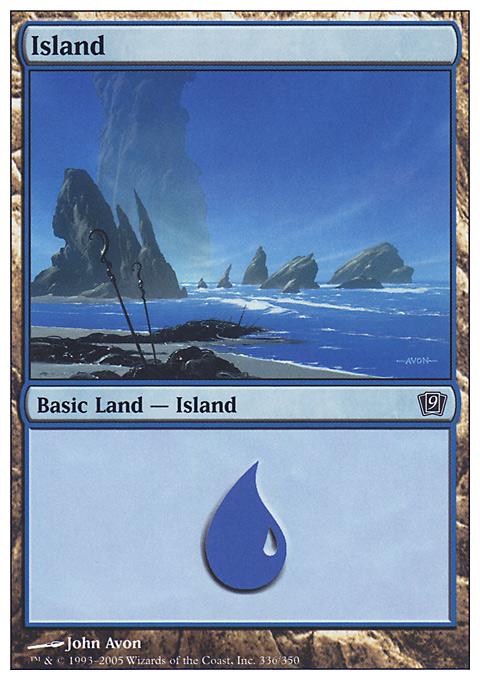 Island (336)  card from Ninth Edition