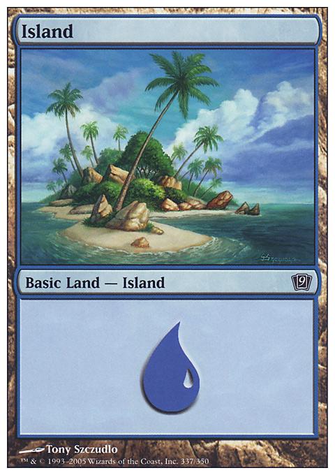 Island (337)  card from Ninth Edition