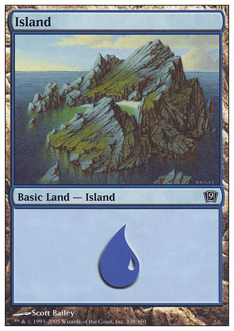 Island (338)  card from Ninth Edition