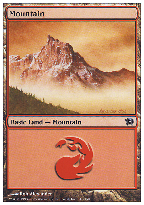 Mountain (346)  card from Ninth Edition