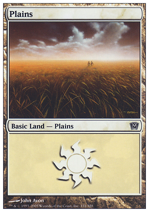 Plains (331)  card from Ninth Edition