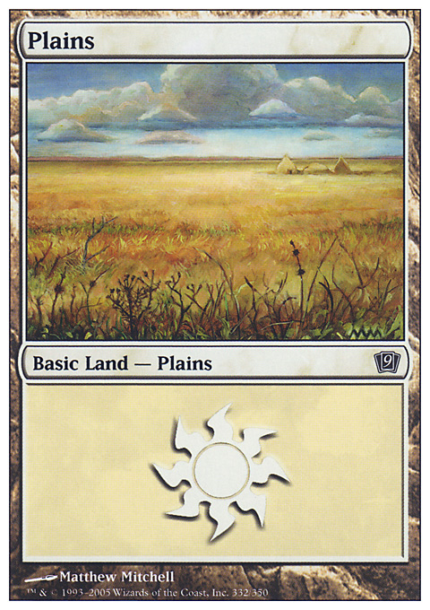 Plains (332)  card from Ninth Edition