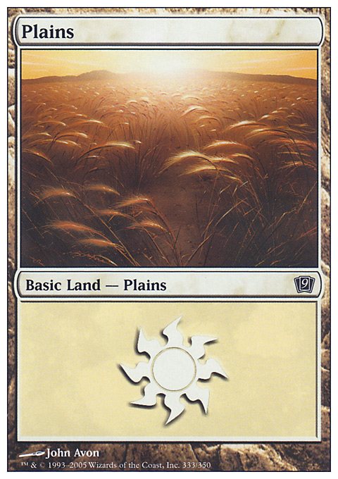 Plains (333)  card from Ninth Edition