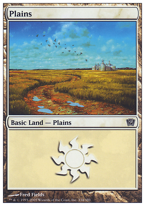 Plains (334)  card from Ninth Edition