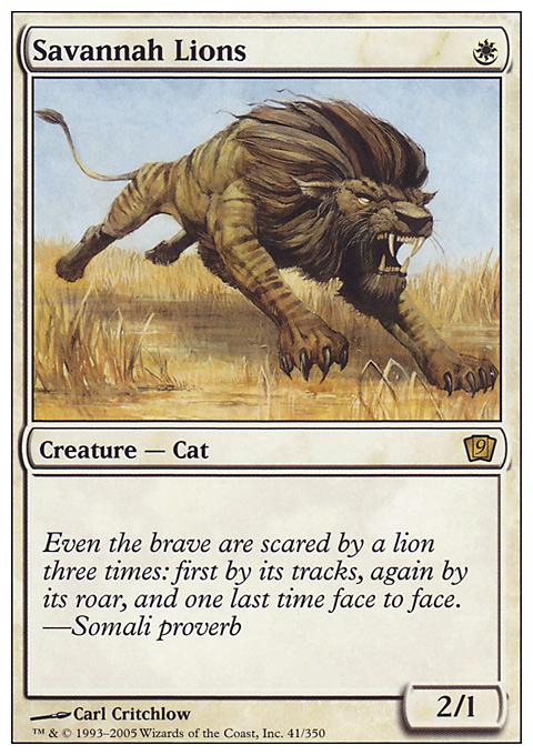 Savannah Lions card from Ninth Edition