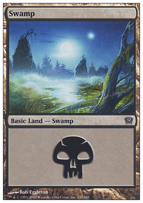 Swamp (339)  card from Ninth Edition