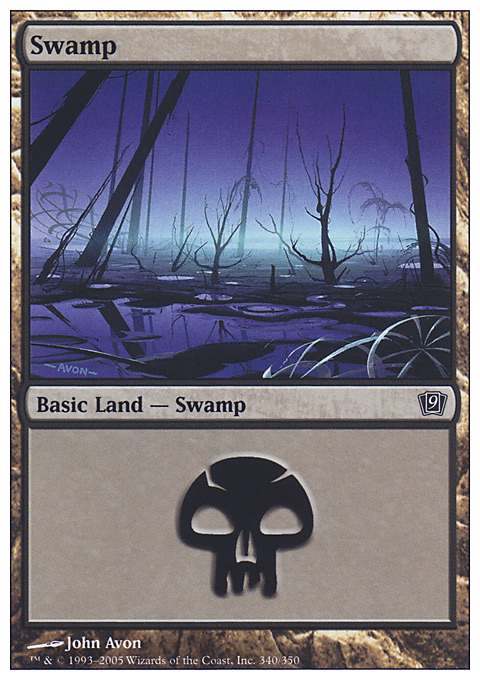 Swamp (340)  card from Ninth Edition