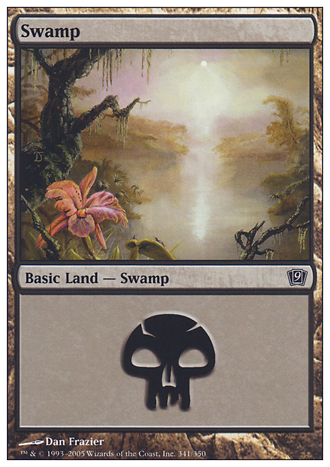 Swamp (341)  card from Ninth Edition