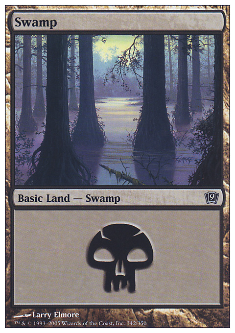 Swamp (342)  card from Ninth Edition