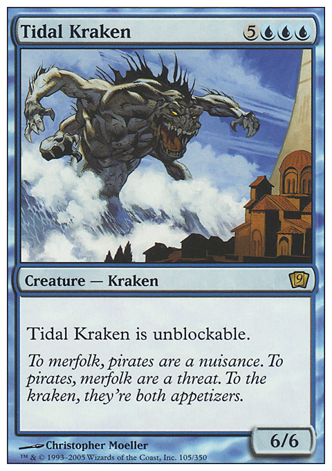 Tidal Kraken card from Ninth Edition
