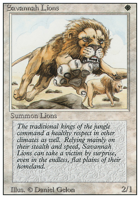 Savannah Lions card from Revised Edition