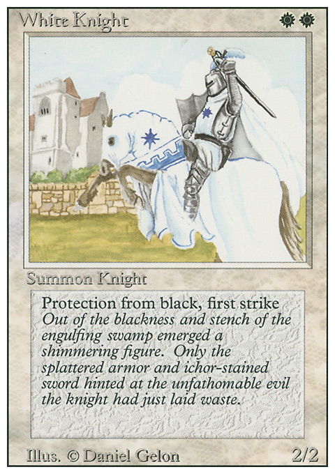 White Knight card from Revised Edition