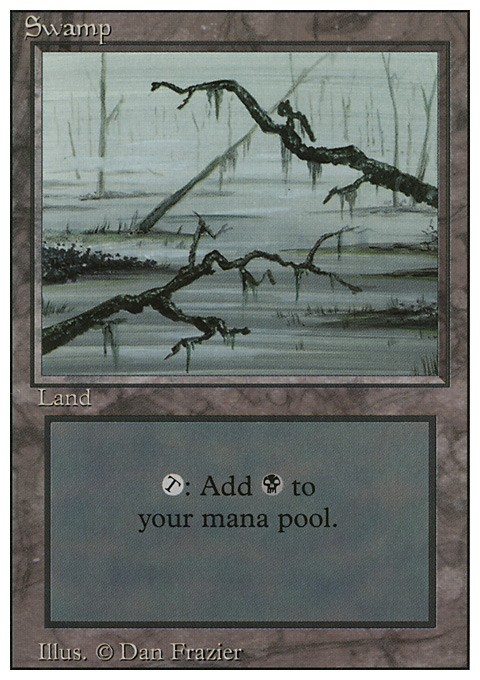 Swamp (C) card from Revised Edition