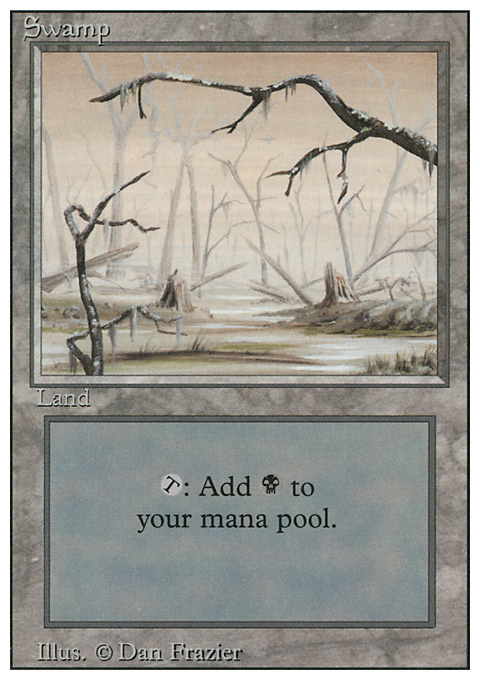 Swamp (B) card from Revised Edition