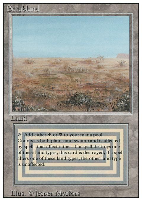 Scrubland original card image