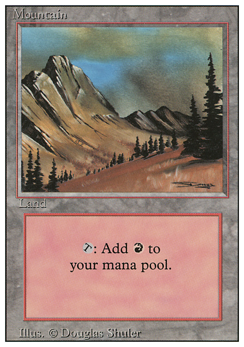Mountain (C) card from Revised Edition