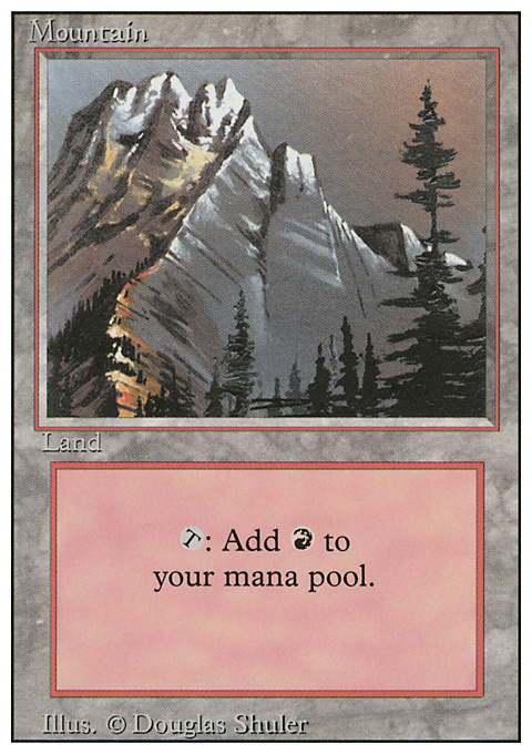 Mountain (A) card from Revised Edition