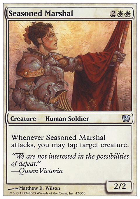 Seasoned Marshal card from Ninth Edition