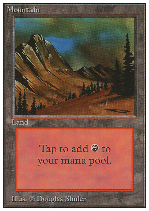 Mountain (C) card from Unlimited Edition