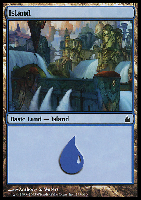Island (293)  card from Ravnica: City of Guilds
