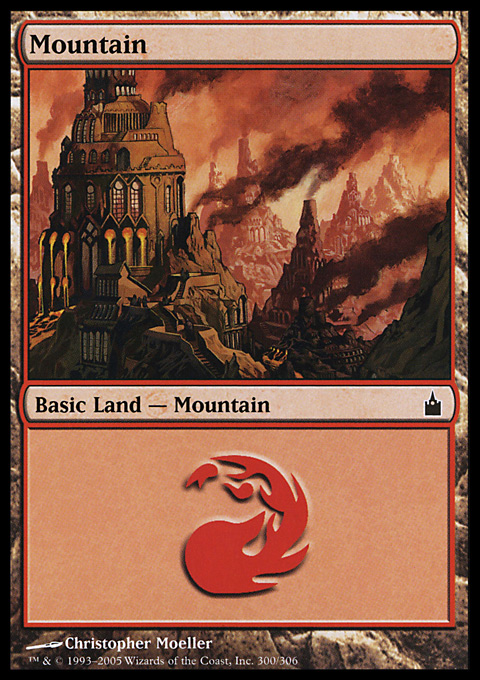 Mountain (300)  card from Ravnica: City of Guilds
