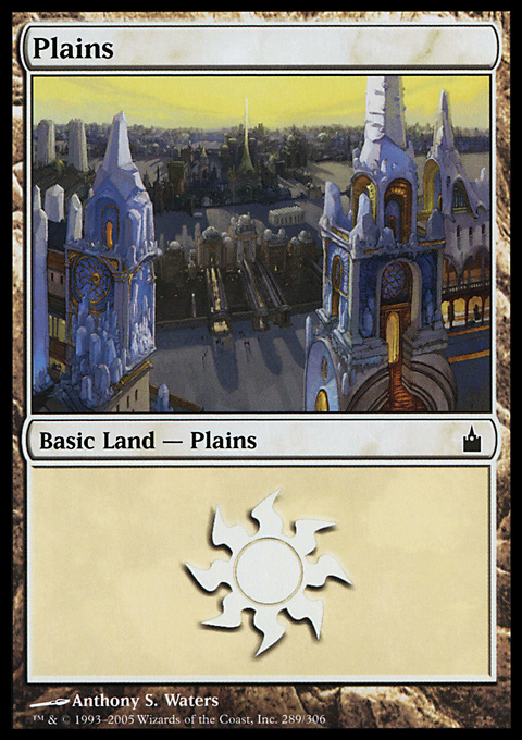 Plains (289)  card from Ravnica: City of Guilds