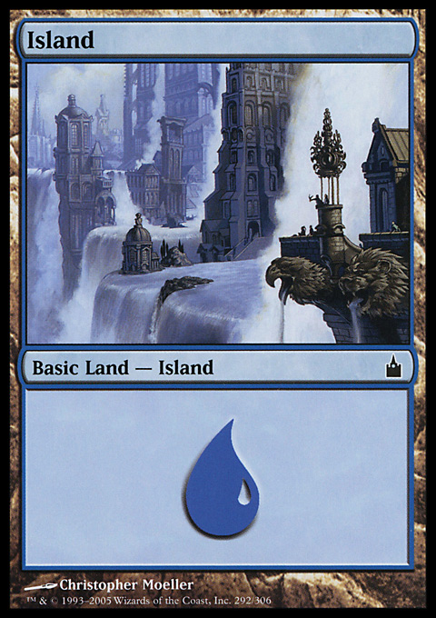 Island (292)  card from Ravnica: City of Guilds