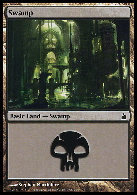 Swamp (295)  card from Ravnica: City of Guilds