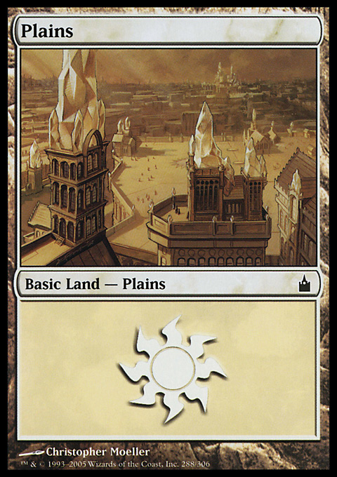 Plains (288)  card from Ravnica: City of Guilds