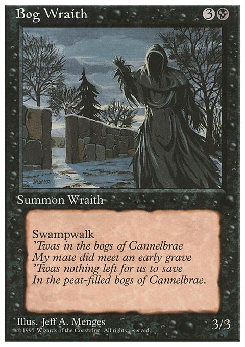 Bog Wraith card from Fourth Edition
