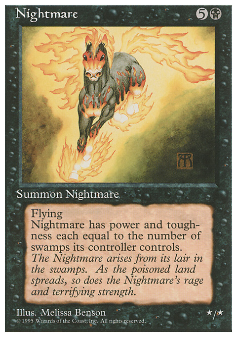 Nightmare card from Fourth Edition