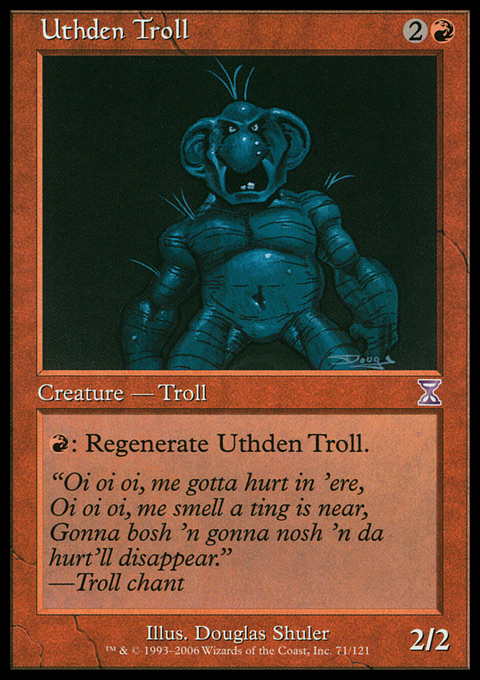 Uthden Troll card from Time Spiral