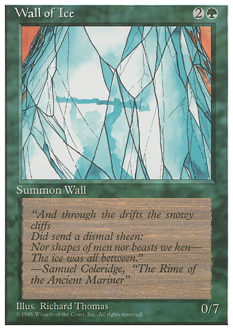 Wall of Ice card from Fourth Edition