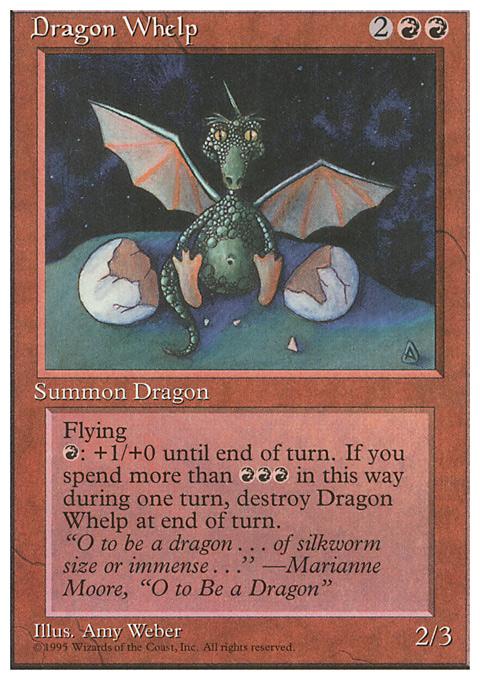 Dragon Whelp card from Fourth Edition