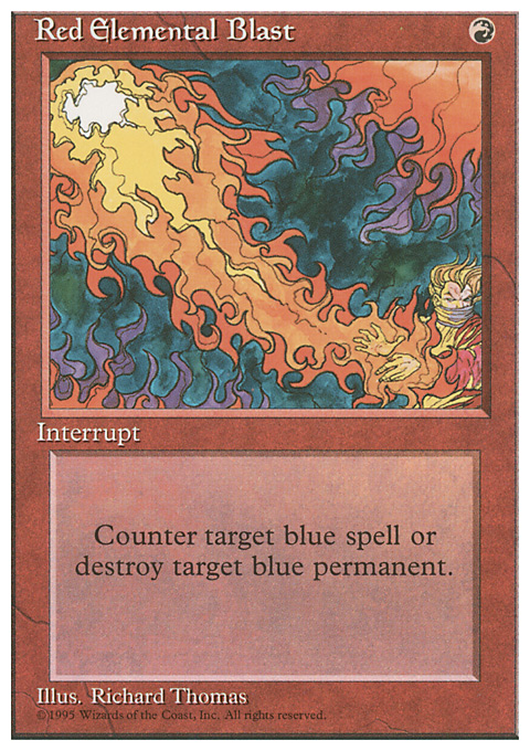 Red Elemental Blast card from Fourth Edition