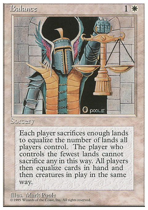 Balance card from Fourth Edition