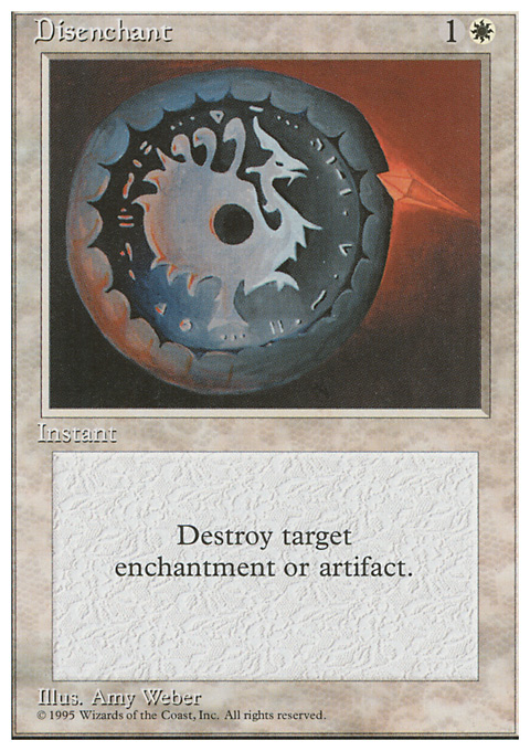 Disenchant card from Fourth Edition