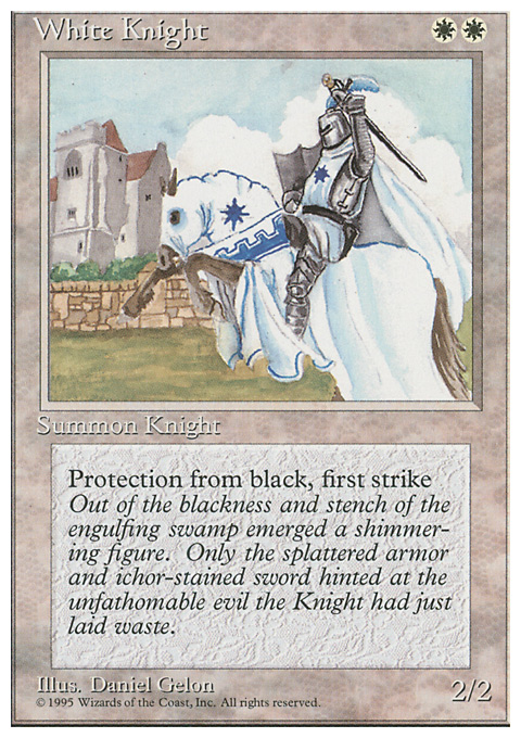 White Knight card from Fourth Edition